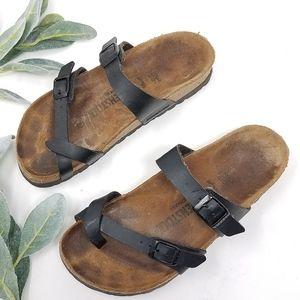 BIRKENSTOCK Black Slide Sandals 36   5-5.5